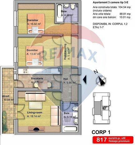 Apartament 3 camere zona Fundeni Pantelimon - imaginea 1