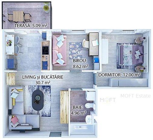 Apartament 3 camere Palladium Residence 2 - Metrou Nicolae Teclu - imaginea 1