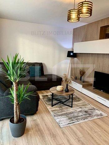 Apartament 2 camere, decomandat, etaj intermediar, zona Coresi - imaginea 1