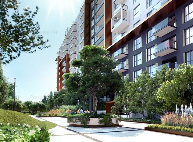 Apartament 3 camere, 2 bai, terasa grandioasa, Ansamblul Parcului 20 - imaginea 1