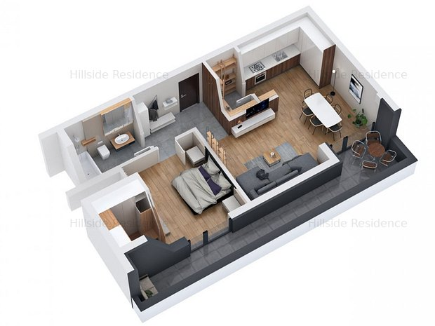 Apartament 2 camere 64 mp + terasa 17,5 mp, in zona Vivo - imaginea 1