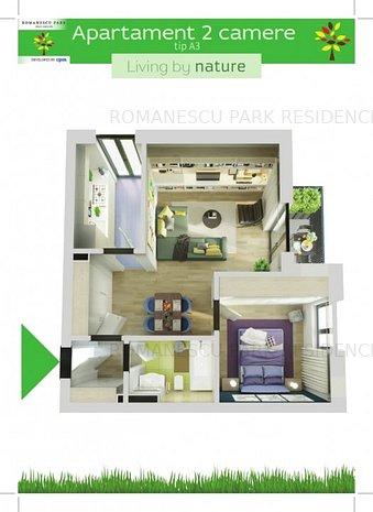 Apartamente noi 2 camere langa parc - Romanescu Park Residence - imaginea 1