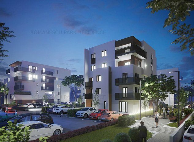 Apartamente noi cu gradini generoase - Romanescu Park Residence - imaginea 1