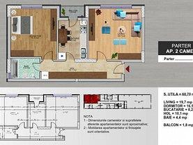 Apartament de vânzare 2 camere, în Popeşti-Leordeni, zona Exterior Vest