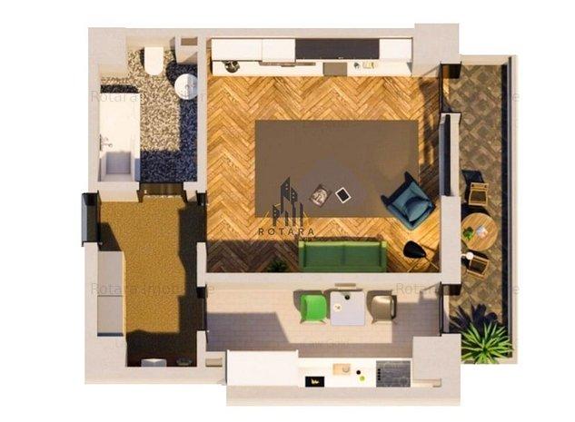 Apartament 1 camera - Tatarasi / Investitie rentabila/ 500 E mp balcon - imaginea 1