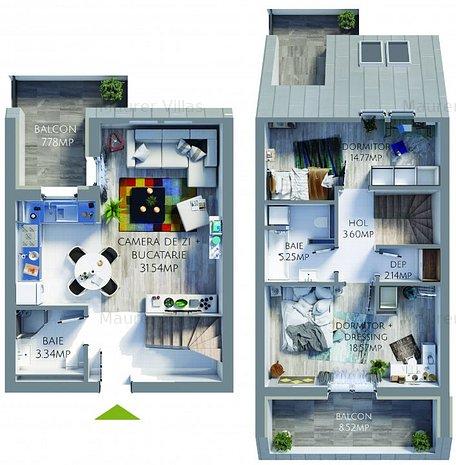Apartament 3 camere, bucatarie mobilata si utilata BONUS, Maurer Villas Brasov - imaginea 1