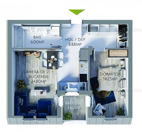 Apartament 2 camere de vanzare, Maurer Villas Brasov - imaginea 1