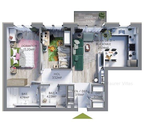 Apartament 3 camere de vanzare, Maurer Villas Brasov - imaginea 1