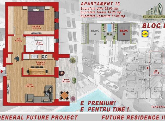 Ap.2 camere -Bucatarie Inchisa - Terasa 10mp -[Bloc Nou(Giroc) - Piscina- Lift - imaginea 1