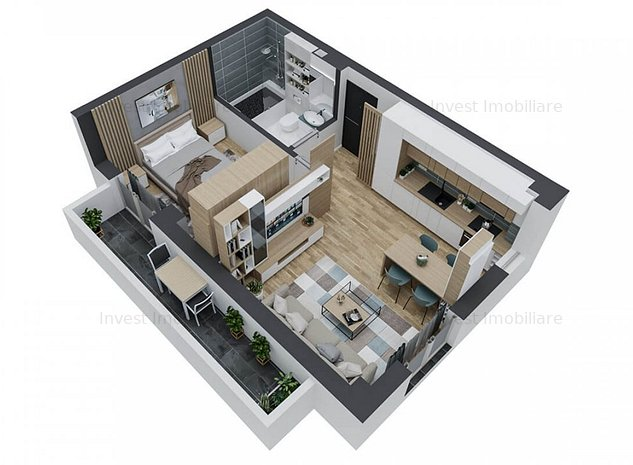 Apartament 2 camere bloc nou Kaufland-Pacurari - imaginea 1
