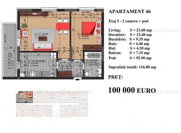 Apartament decomandat bloc nou- metrou Dristor - imaginea 1