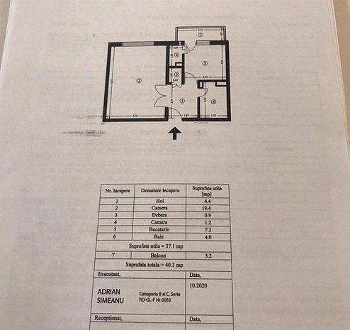 Apartament 1 camera, Pacurari, 41mp, etaj intermediar - imaginea 1