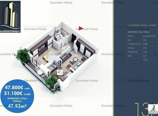 Apartament 2 Camere | Bloc nou | Comision 0% - imaginea 1
