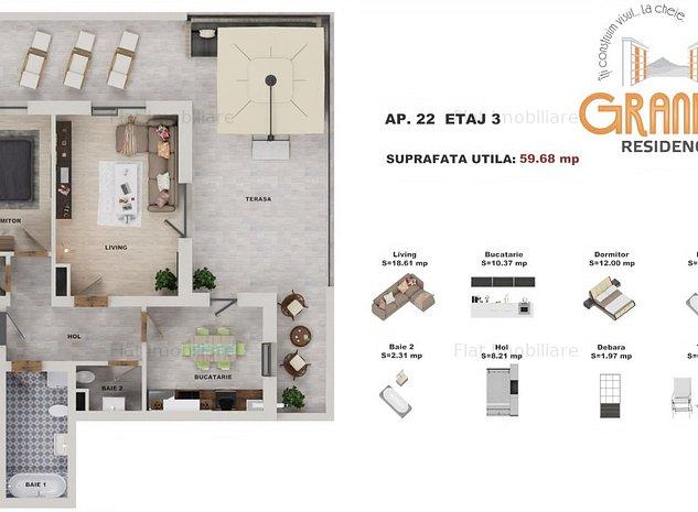 Apartament in vila Grandis Residence - imaginea 1