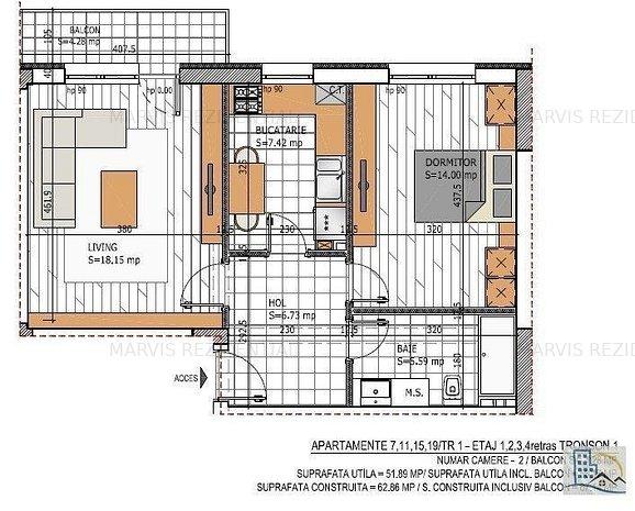 Apartament 2 camere, Decomandat, Metrou 10 minute - imaginea 1