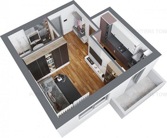 Apartament 1 camera Frumoasa Nicolina Poities - imaginea 1