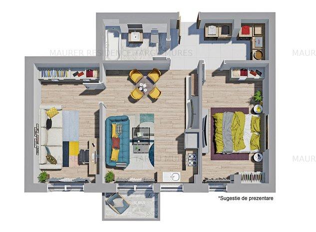 Apartament cu 3 camere la Maurer Residence Târgu Mureș - imaginea 1