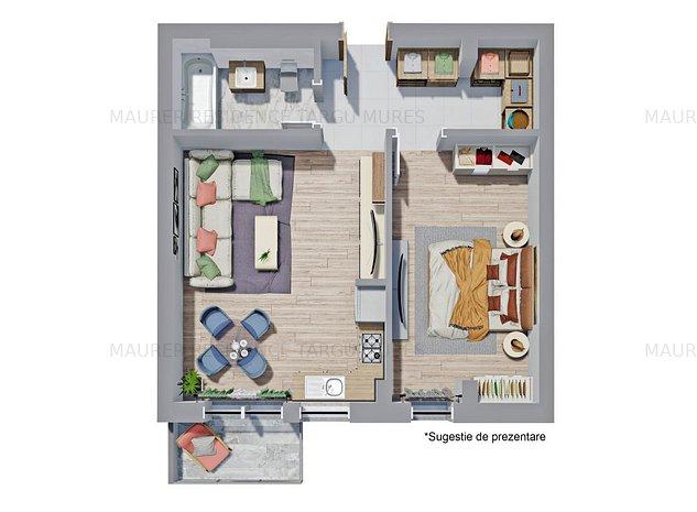 Apartament cu 2 camere la Maurer Residence Târgu Mureș - imaginea 1