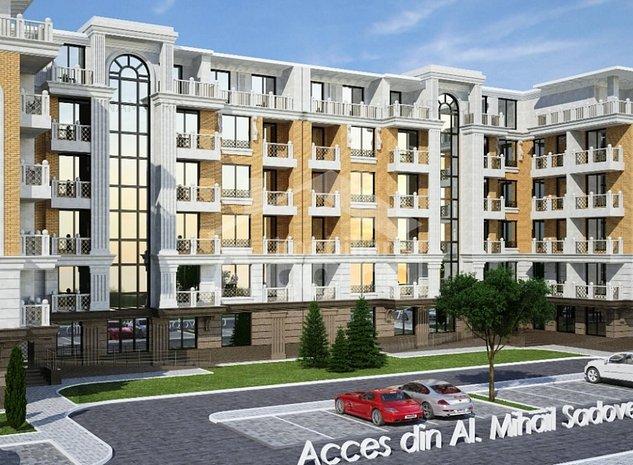 Penthouse cu 2 camere la 81.5 m2 in Complex Sadoveanu - imaginea 1