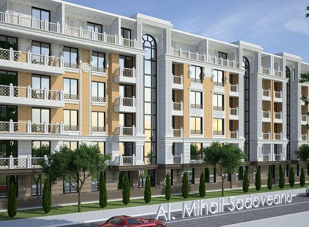 Penthouse cu 3 camere Complex Sadoveanu - imaginea 1