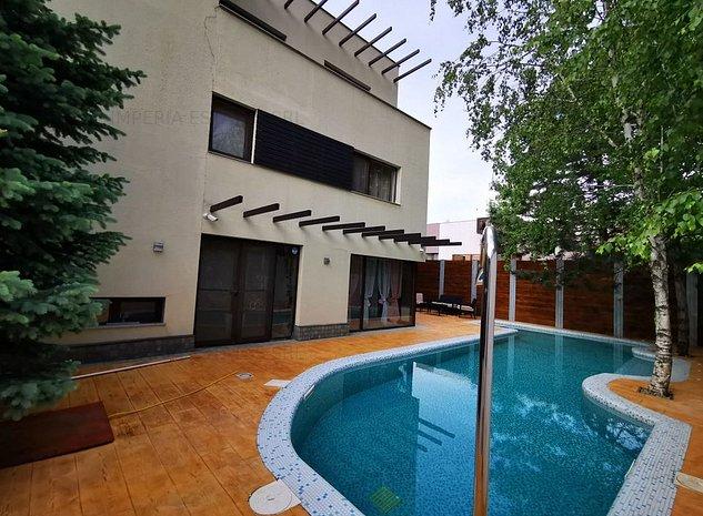 Vila moderna din apropierea scolii americane, piscina incalzita, mobilata - imaginea 1