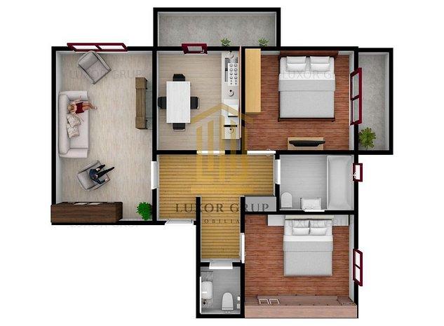 Profita Acuma   Apartament 3 camere   Decomandat   Direct Dezvoltator - imaginea 1