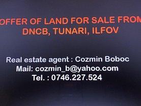 Teren constructii de vânzare, în Tunari