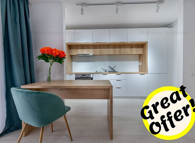 ✅Apartament superb tip open space, 45 mp, bloc nou, etaj int. Buna Ziua! - imaginea 1