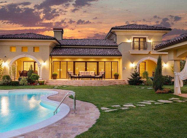 Casa stil mediteranean PIPERA-TUNARI - teren 1200 mp - complet mobilata - imaginea 1