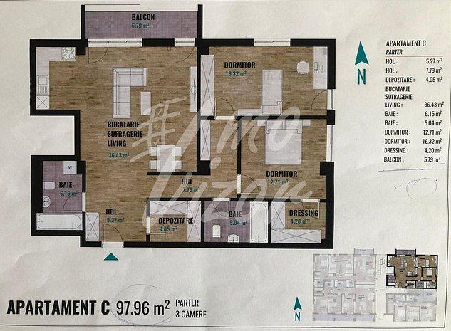 Apartament 3 camere zona Calea Turzii - imaginea 1