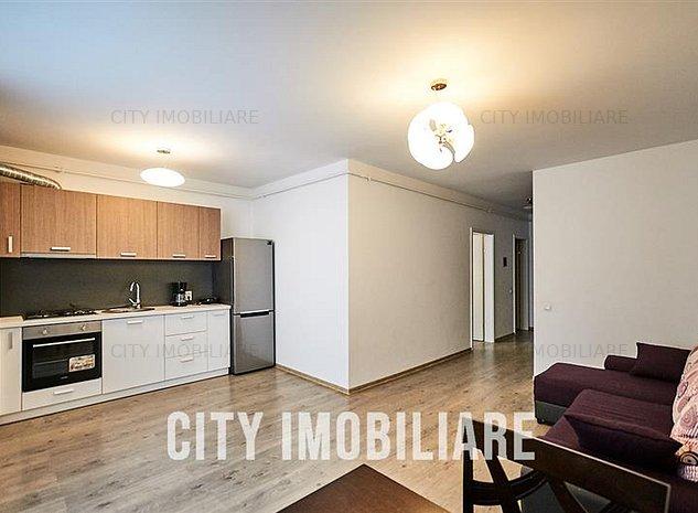 Apartament 2 camere, S-46 mp+ balcon, mobilat utilat, bloc nou - imaginea 1