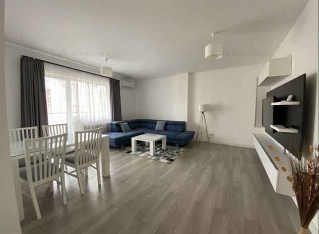 Apartament 2 camere, 60 mp,semidecomandat, LUX, parcare-zona NTT DATA - imaginea 1