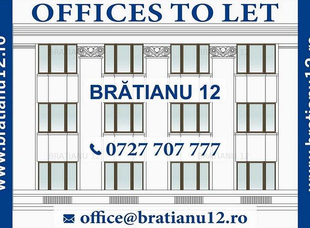 Spatii birouri BRATIANU 12 - UNIVERSITATE - UNIRII - imaginea 1
