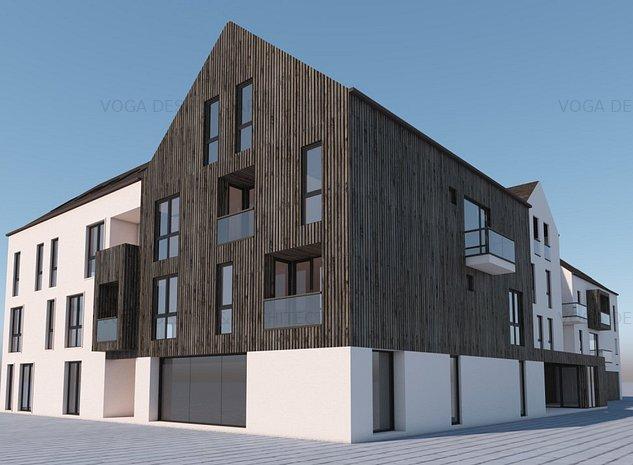 Apartament 3 camere, Brasov centru, cu acces in curtea interioară, A01 - imaginea 1