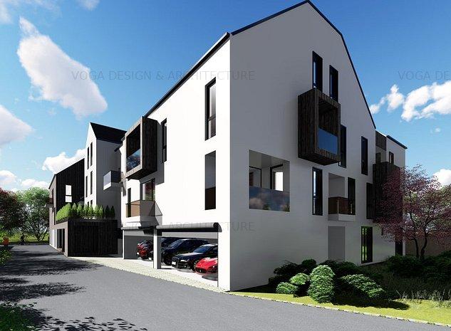 Apartament duplex, 4 camere, Brasov centru, ansamblu rezidential lux, A16 - imaginea 1