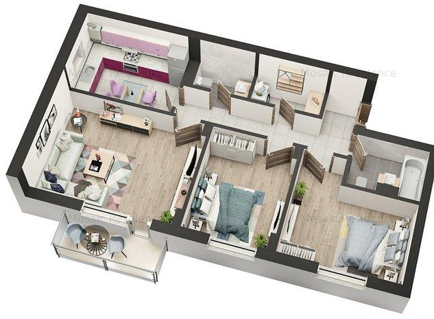 MOSAIC RESIDENCE Apartament 3 camere // FINALIZARE APRILIE 2020 - imaginea 1