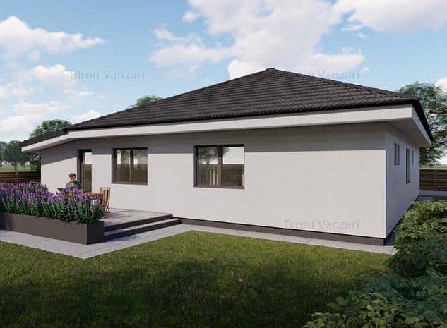 Saftica |Casa individuala| Garaj Interior| Curte libera 300 mp - imaginea 1