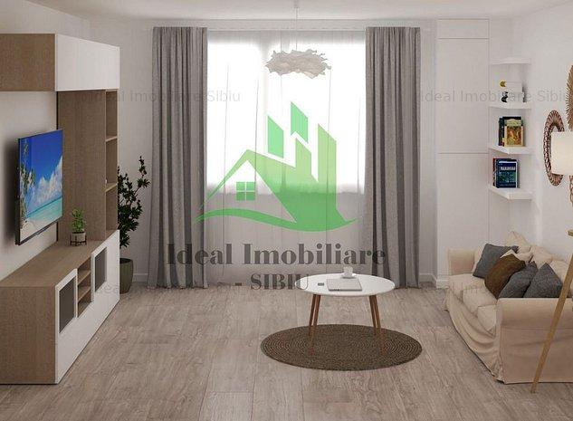 Apartament cu doua camere direct de la Dezvoltator in Cisnadie - imaginea 1