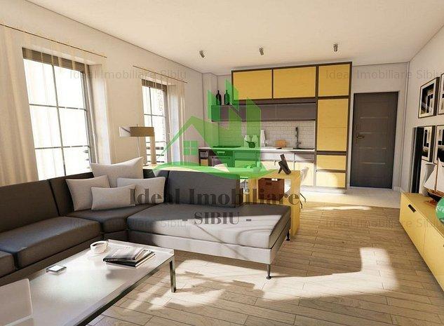 Apartament cu doua camere si gradina in Calea Cisnadiei - imaginea 1