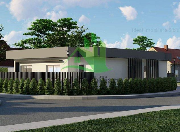 Casa moderna pe un nivel in Sura Mica- Comision 0% - imaginea 1
