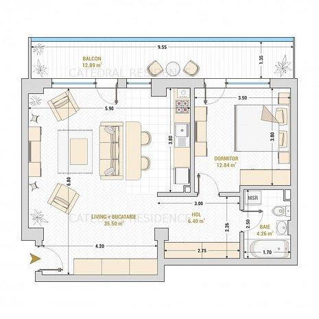 PROMOTIONAL-apartament 2 camere, ansamblu nou- Catedral Residence-central - imaginea 1