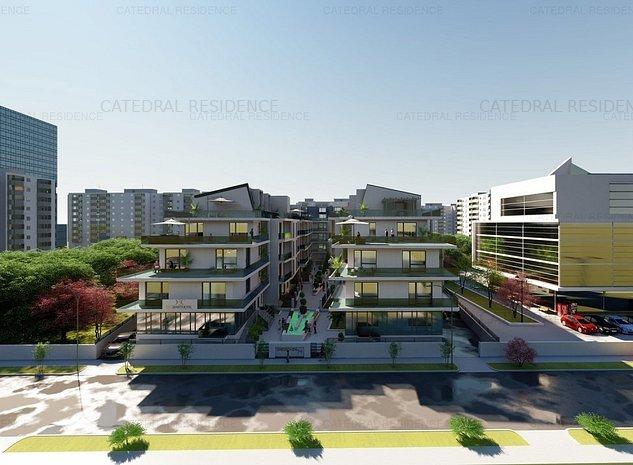 Central!! apartament 2 camere, ansamblu nou-Catedral Residence- 13 Septembrie - imaginea 1