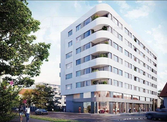 Apartament 2 camere, semifinisat, 54.53 mp, zona Dedeman - imaginea 1