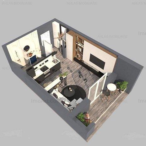 Apartament cu 1 camera in Braytim, finisaje de calitate. - imaginea 1
