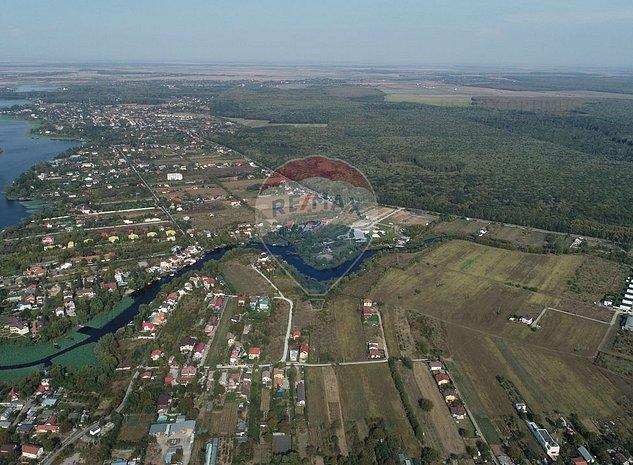 Teren 4858 mp Ghermanesti  vecinatate canal navigabil  lac Snagov - imaginea 1