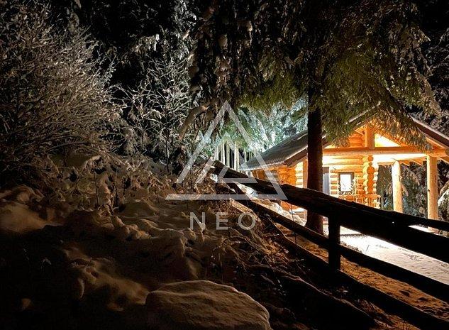 Cabana de vacanta moderna si teren in padure de vanzare in comuna Margau! - imaginea 1