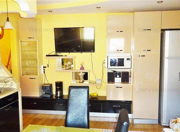 Apartament cu 2 camere, modificat cu 3 camere, mobilat, utilat - imaginea 1