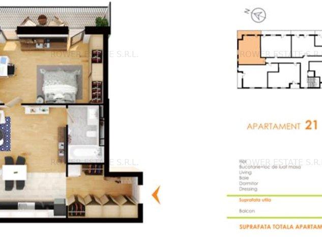 Apartament 2 camere, 60.52 mp. constructie noua,cartier Buna Ziua - imaginea 1