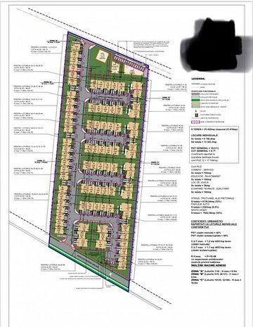 Teren intravilan cu autorizatie de constructie-proiect la cheie de 86 de case - imaginea 1