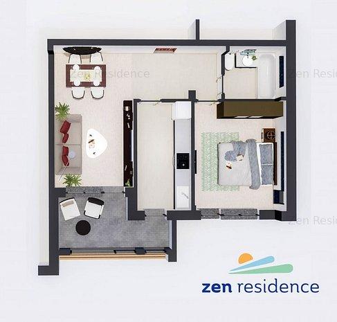 Apartament 2 Camere - Zen Residence Constanta - imaginea 1
